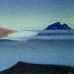 Roerich N.K. (Part 6) - Himalayas # 51 Rdeyuschie clouds in blue mountains