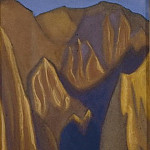 Yellow Cliffs # 57 , Roerich N.K. (Part 6)
