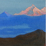 Himalayas # 42 A pink peak in a blue fog, Roerich N.K. (Part 6)