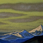 Himalayas # 52 Gloomy sky above the tops, Roerich N.K. (Part 6)