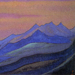 Himalayas # 120 Sunset in the mountains, Roerich N.K. (Part 6)