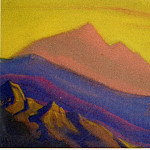 Himalayas # 122 Mountains at sunset, Roerich N.K. (Part 6)