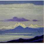 Himalayas # 7 clouds above a mountain range, Roerich N.K. (Part 6)