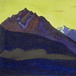 Roerich N.K. (Part 5) - Lahul # 138 (mountains on the background of the golden sky)