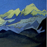 Himalayas # 55 Shining snow ridge, Roerich N.K. (Part 6)