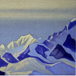 Kanchenjunga # 30 Blue snow at dusk, Roerich N.K. (Part 6)