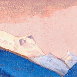 The Himalayas # 142 The Pink Sky, Roerich N.K. (Part 6)