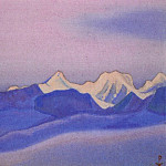 # 99 Himalaya mountain range at dawn, Roerich N.K. (Part 6)