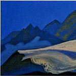 Himalayas # 95 Cliffs at dawn, Roerich N.K. (Part 6)