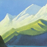 The Himalayas # 101 Green and pink peaks, Roerich N.K. (Part 6)