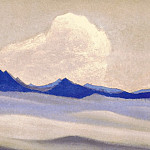 The Himalayas # 20 The evening falls on the glacier, Roerich N.K. (Part 6)