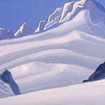 The Himalayas # 159 Snowy benches, Roerich N.K. (Part 6)