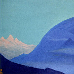 The Himalayas # 156 The blue peaks at dawn, Roerich N.K. (Part 6)