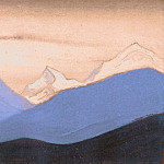 The Himalayas # 75 The Pink Evening Light, Roerich N.K. (Part 6)