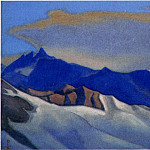 The Himalayas # 150 The gray cloud above the blue ridge, Roerich N.K. (Part 6)