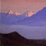 Himalayas # 103 Lilac peaks in the pink light, Roerich N.K. (Part 6)