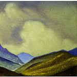 Roerich N.K. (Part 2) - Mongolia # 199 (mountain slopes on the background cloud)