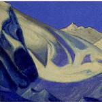 Roerich N.K. (Part 6) - Himalayas # 47 glacier in the blue gorge