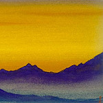 Roerich N.K. (Part 6) - Tibet # 103 Tibet (evening light)