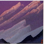 Himalayas # 63 Reflections of a sunset on the snowy tops, Roerich N.K. (Part 6)