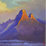 Roerich N.K. (Part 6) - Nanda Devi # 176 (Two burning rock)
