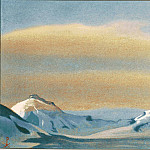 Himalayas # 80 Ray of the sun in the clouds, Roerich N.K. (Part 6)