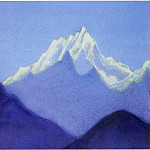 Himalayas # 57 illuminated snowy peak, Roerich N.K. (Part 6)