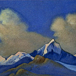 The Himalayas # 1 The dawn in the mountains. Clouds, Roerich N.K. (Part 6)