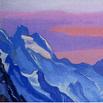 The Himalayas # 109 The blue ridge at sunset, Roerich N.K. (Part 6)