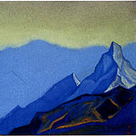 Roerich N.K. (Part 1) - Himalayas # 105 A cloud above the mountain peaks