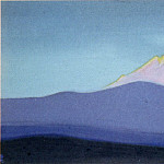 Himalayas # 8 Golden slope vertex with rose, Roerich N.K. (Part 6)