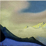 Himalayas # 28 Clouds at sunset, Roerich N.K. (Part 6)