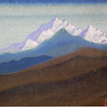 Roerich N.K. (Part 6) - Himalayas # 48 mountain range at sunrise