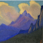 Himalaya # 74 Golden clouds, Roerich N.K. (Part 6)