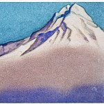 Himalayas # 24 Fog descending from the top, Roerich N.K. (Part 6)