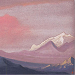 Himalayas # 51 sunset Paints, Roerich N.K. (Part 6)