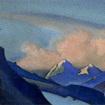 Himalayas # 3 Clouds rolling over the ridge, Roerich N.K. (Part 6)
