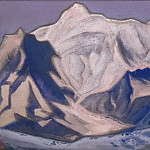 Roerich N.K. (Part 6) - Badrinath # 69 (Snowy peaks at sunset)