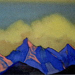 The Himalayas # 20 Clouds and rocks, Roerich N.K. (Part 6)