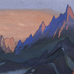 Roerich N.K. (Part 5) - Tibet # 67 (Burning sunset)