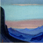 Roerich N.K. (Part 6) - Himalayas # 49 Mountain pass at dawn