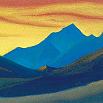 Himalayas # 46 sunset colors, Roerich N.K. (Part 6)