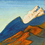 The Himalayas # 66 Sunset in the mountains, Roerich N.K. (Part 6)