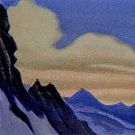 Roerich N.K. (Part 1) - The Himalayas # 36 The pink clouds. Sunset