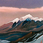 The Himalayas # 155 Evening Light, Roerich N.K. (Part 6)