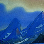 Himalayas # 103 Rocky peaks against the blue sky, Roerich N.K. (Part 6)