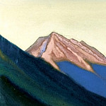 Roerich N.K. (Part 6) - Kuluta # 92 (Himalayas. Crimson vertex at sunset)