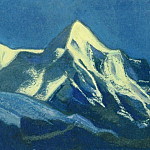 Roerich N.K. (Part 6) - Tibet # 136 (in the moonlight. Ladakh. Khardong)