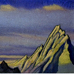 Roerich N.K. (Part 5) - The Himalayas # 11 The Golden Rocks. Sunset
