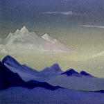 The Himalayas # 28 The fog in the mountains. Nanda-Davie, Roerich N.K. (Part 6)